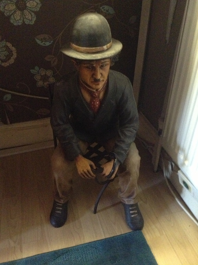 I Have A 2 1 2 Foot Tall Charlie Chaplin Statue He Is