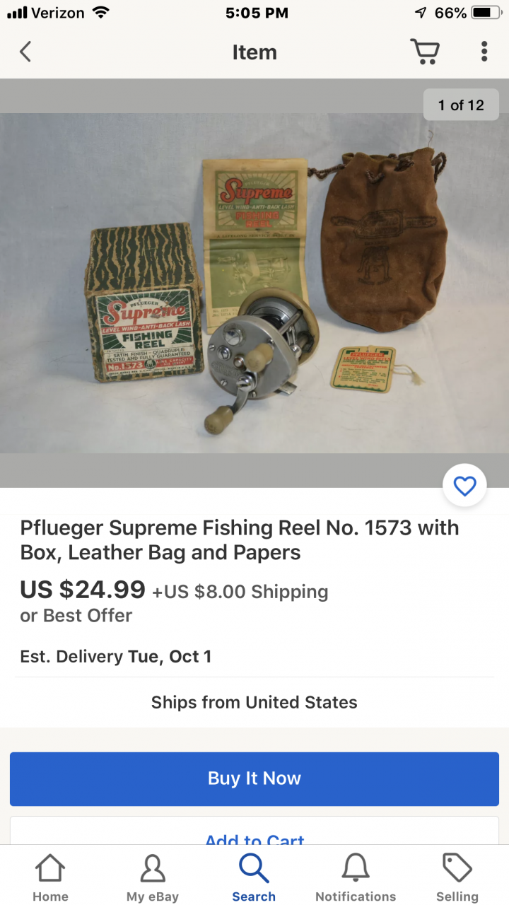 What Is The Value Of My Pflueger Supreme Fishing Reel No 1573 Fishing Talks