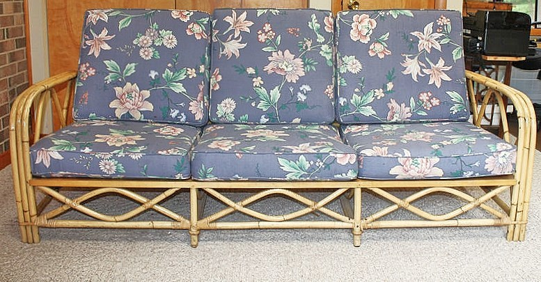 Please Tell Me The Circa And Value Of This Ficks Reed Sofa Set