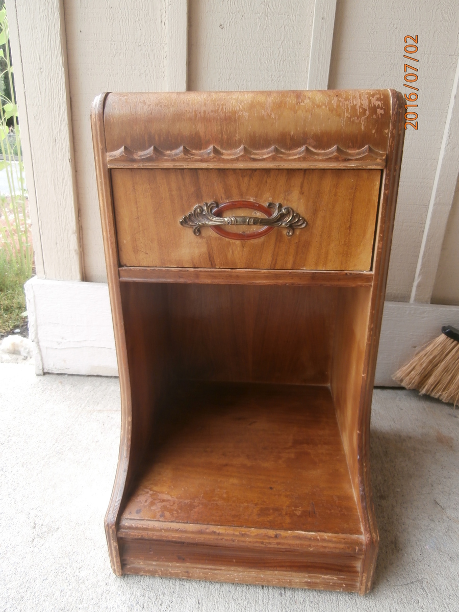 I Have A Waterfall Night Stand It Has Numbers On The