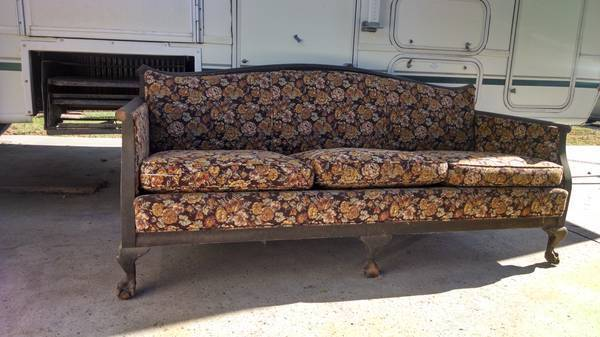 Antique Couch Reupholstered