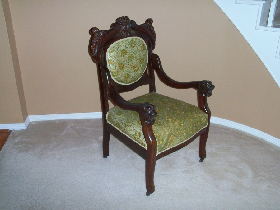 Lion S Head Carving On Chair Arms My Antique