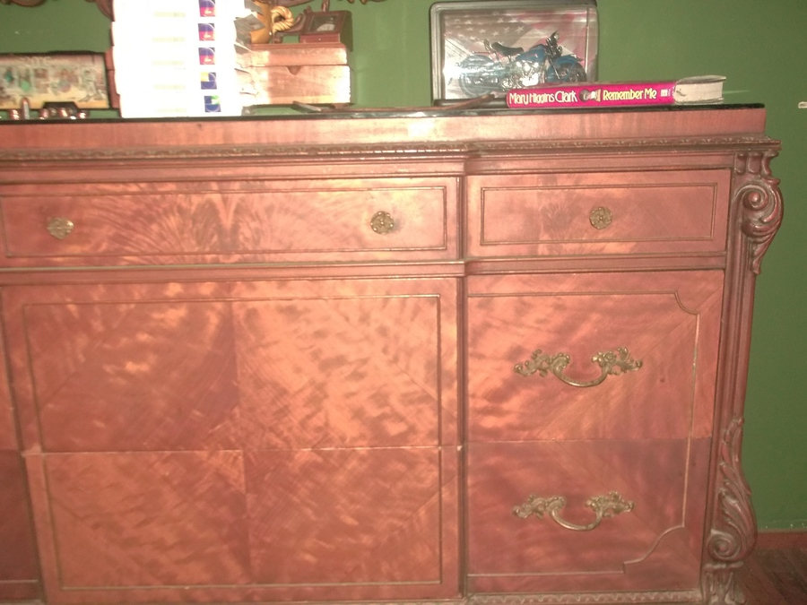 Chippendale Style Salem HOuse Replica Furniture. Head Board, Foot  Board,dresser,chest,2 Large Mirrors,vanity With Chair And Small Setee
