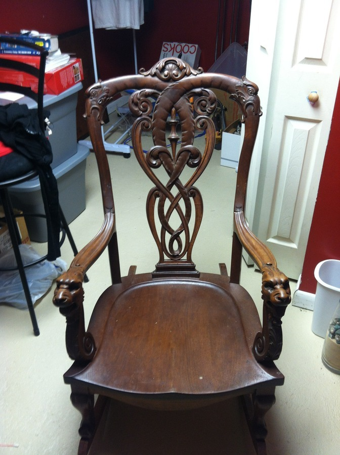 Lion Head Rocking Chair My Antique Furniture Collection