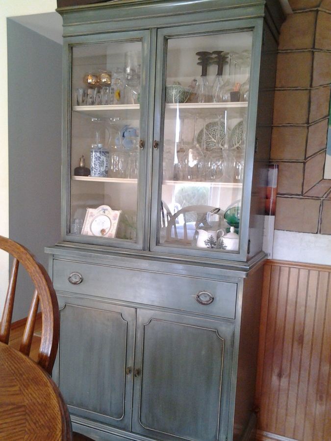 Have A Brickwede China Hutch Oval Metal Tag Inside Drawyer Estimate Value