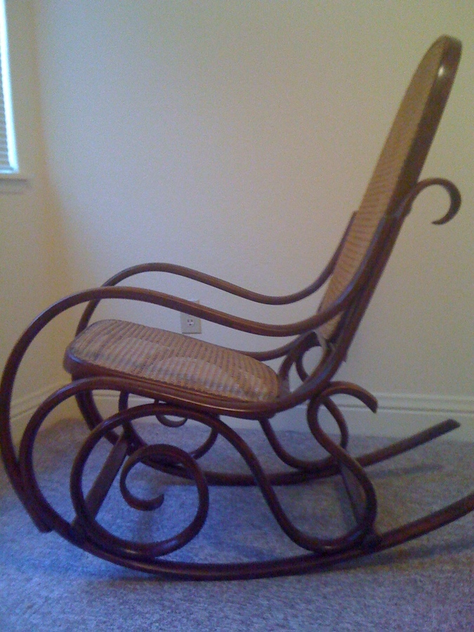 Bentwood Rocking Chair With Stickers My Antique