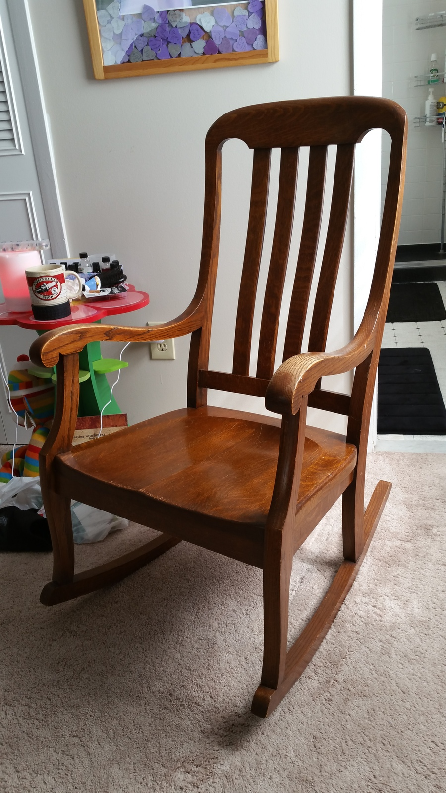 Sikes Rocking Chair With Label And 187 My Antique