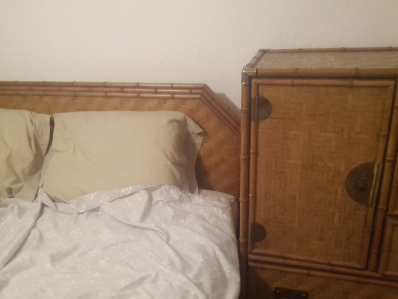 Superb I Have A Dixie Furniture Bamboo Rattan Bedroom Set, Long Dresser, Tall  Dresser, 2 End Tables U0026 Headboard. I Was Wondering Of Its Value Number On  The Back Of ...