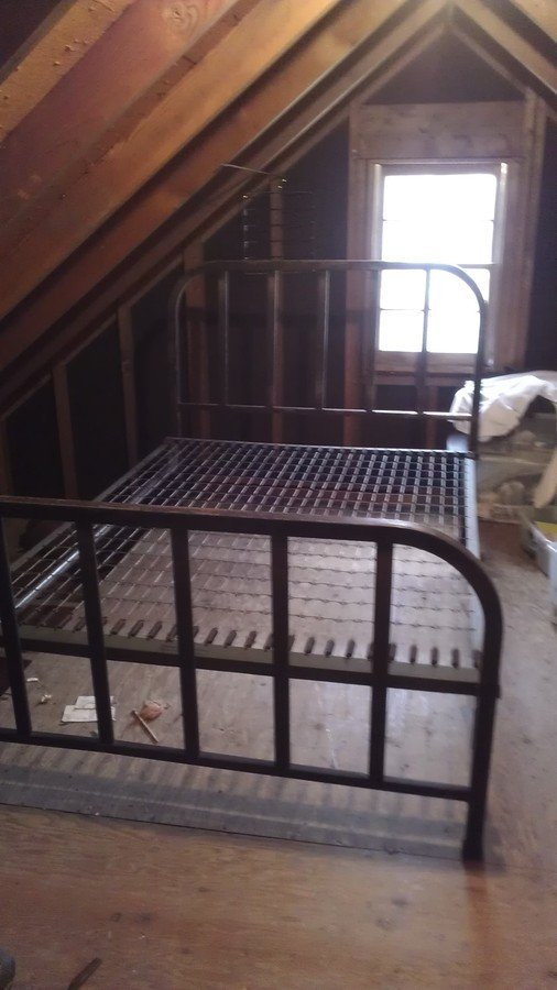 Fullqueen Steel Bed Frame Headboard Only Old Metal Bed Frame