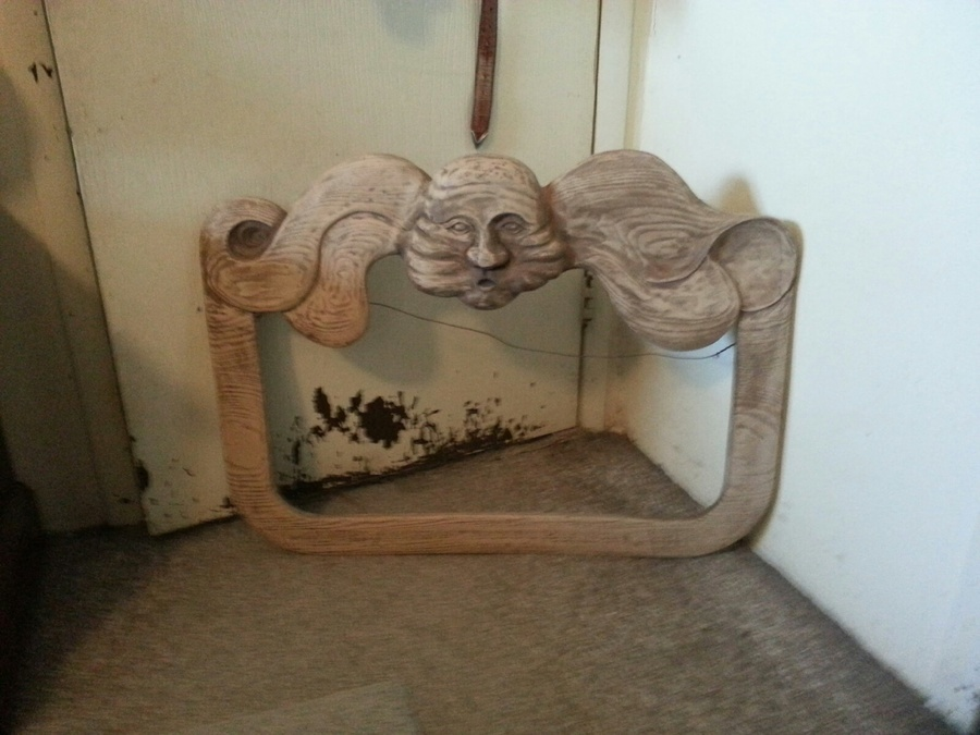 Hello We Have An Old Wood Carved Frame With A Wind Looking