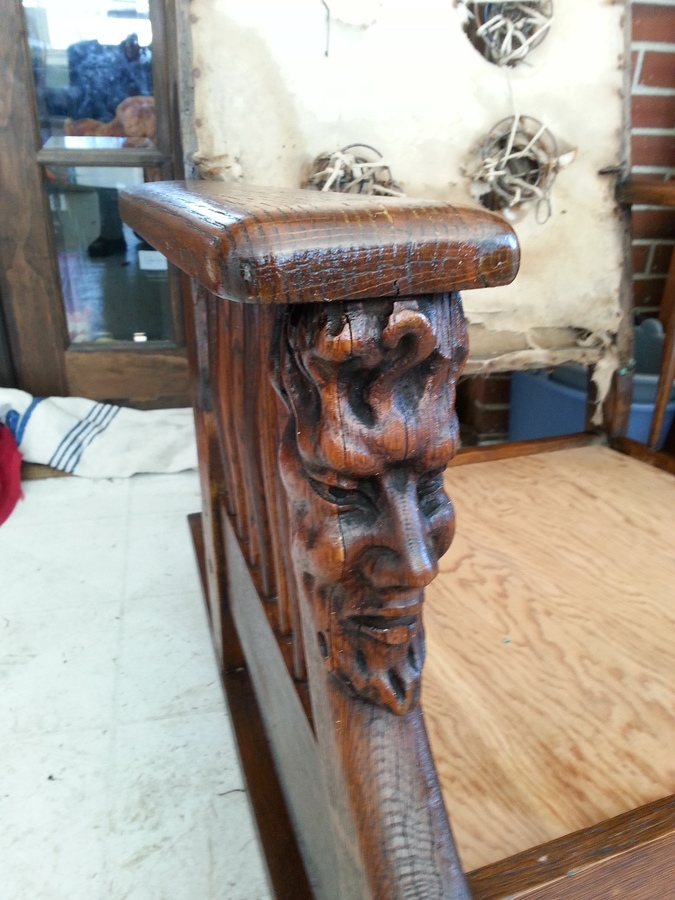 Lincoln Head Rocking Chair My Antique Furniture Collection