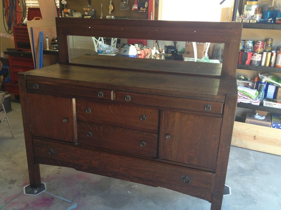 Antique Tiger Oak Mission Style Sideboard My Antique