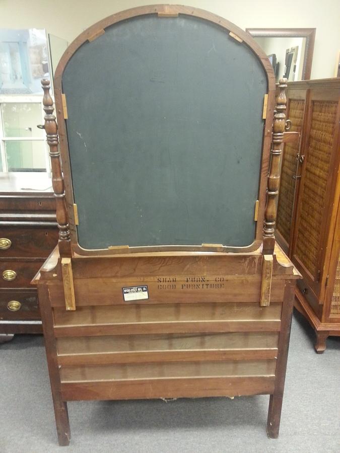 Myers Spalti Dresser With Mirror In Walnut Finish Pattern