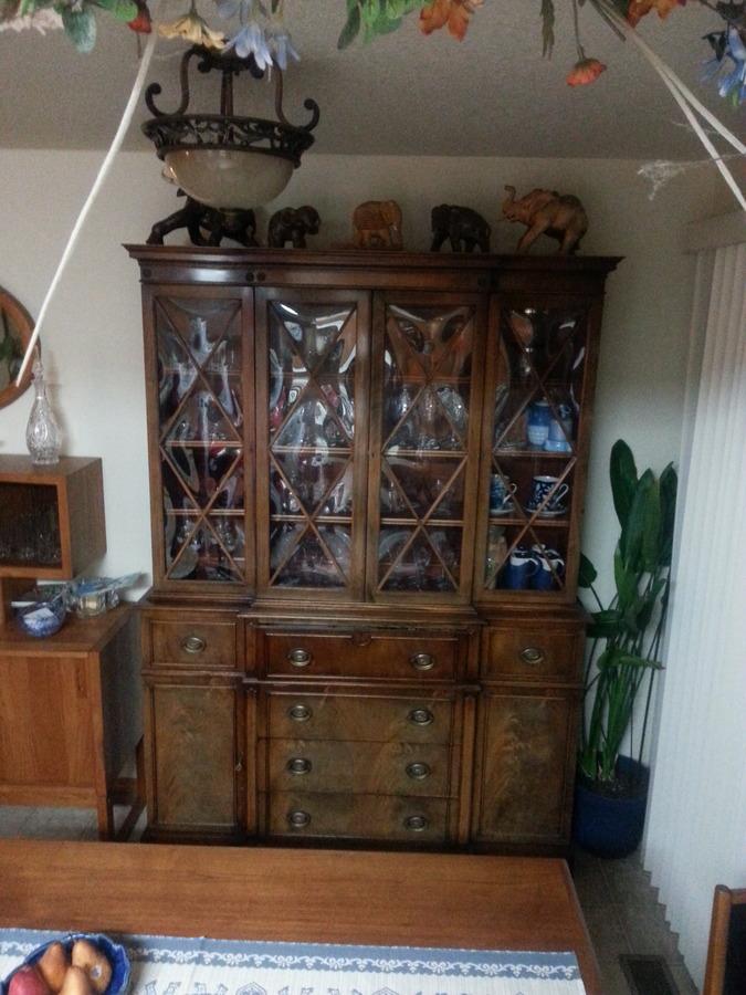 444 Saginaw Secritary China Cabinet My Antique
