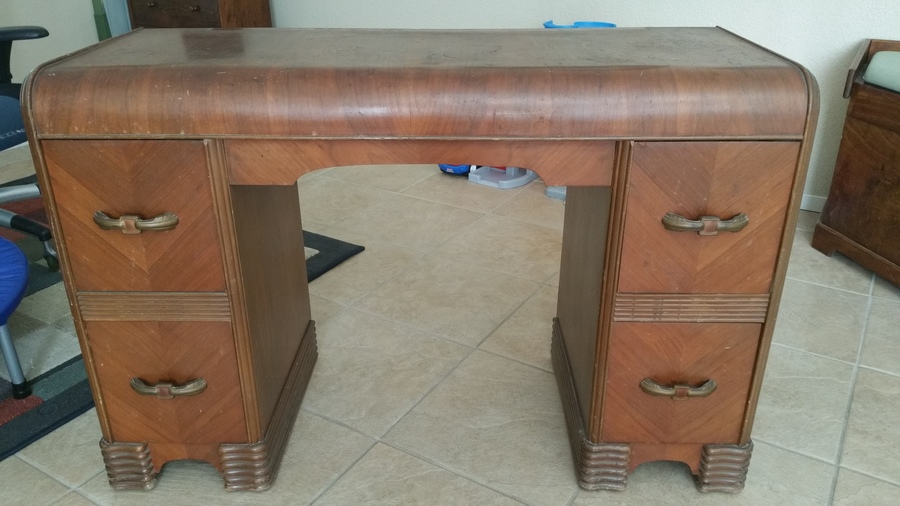Flat Waterfall Vanity My Antique Furniture Collection
