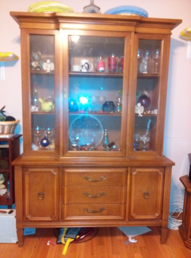 I Have A Large China Cabinet Made By Bassett Furniture Company Am Unsure My  Antique Collection