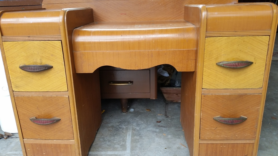 1930 S Waterfall Vanity Art Deco My Antique Furniture