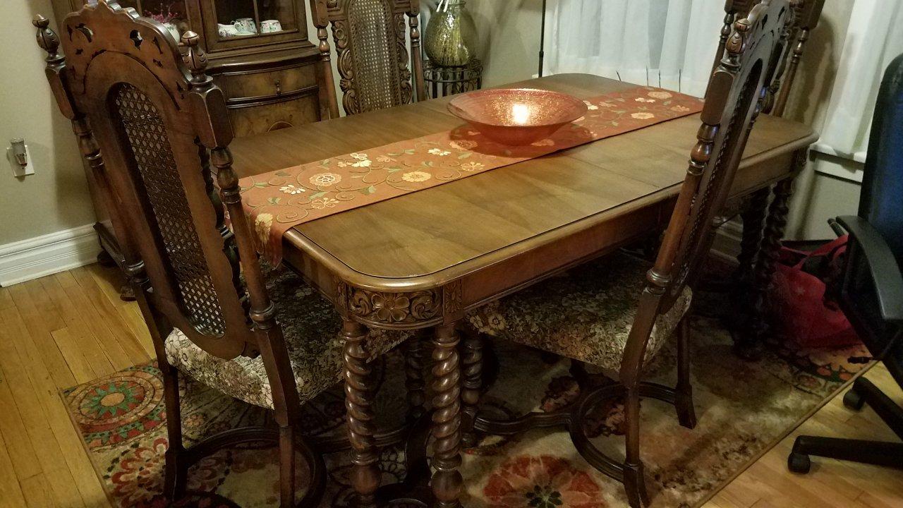 Saginaw Furniture Company Dining Room Set Circa 1925 My