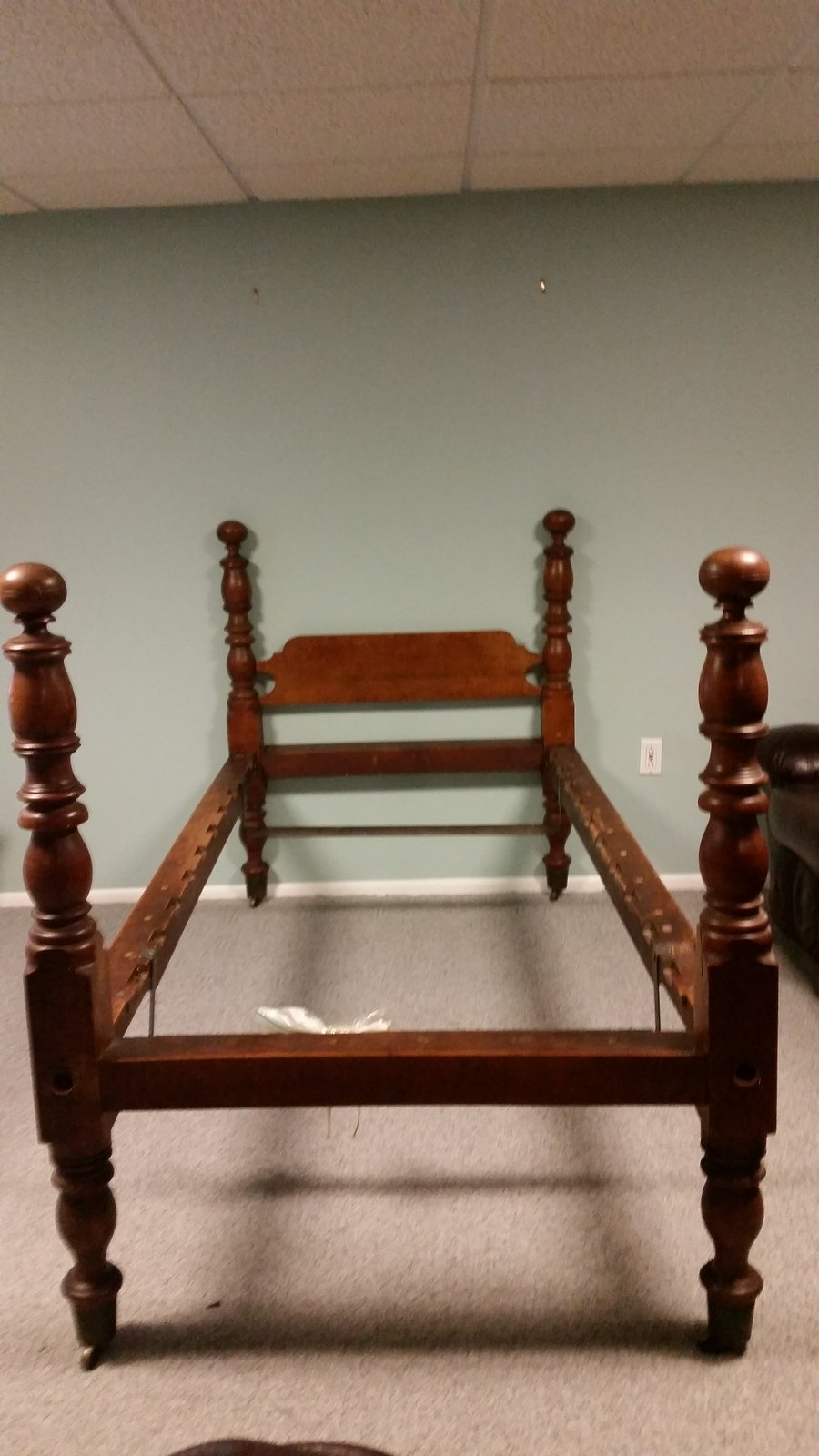 Antique 4 Poster Twin Peg Bed My Antique Furniture