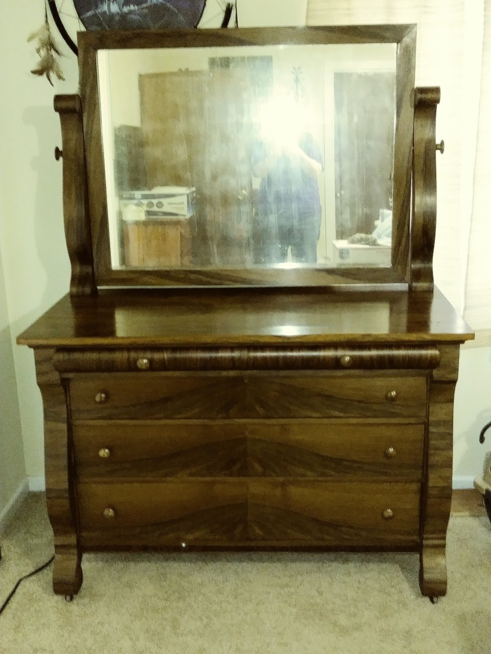 Antique Cherry Dresser With Mirror My Antique Furniture