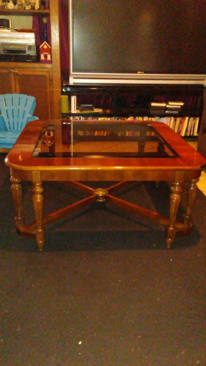 Gordon S Fine Furniture Glass Coffee Table My Antique