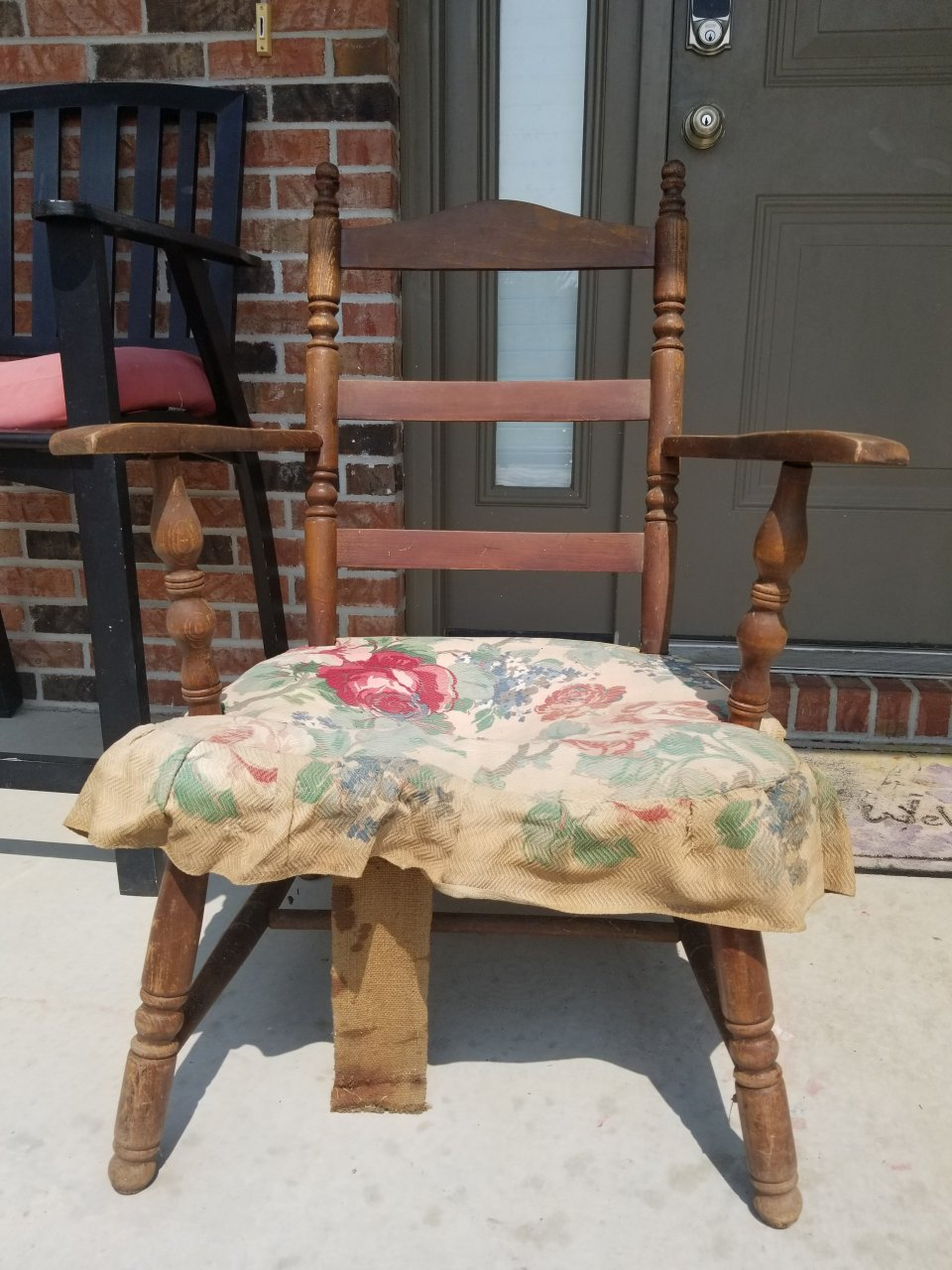 Mid 40 S Armed Cricket Chair My Antique Furniture Collection