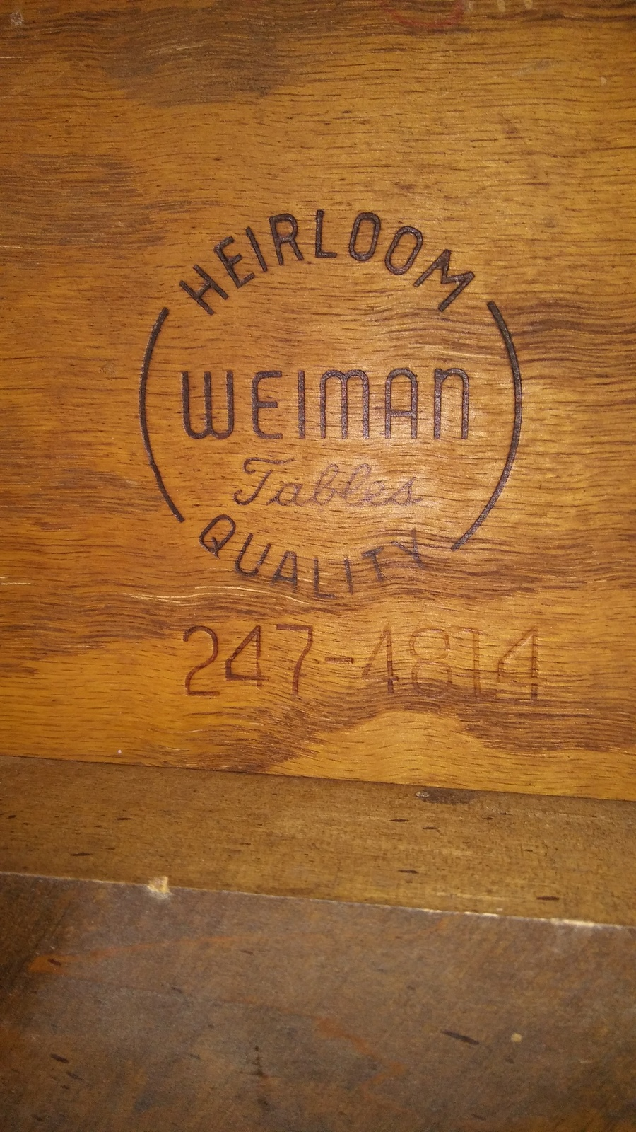 I Have A Weiman Heirloom Quality End Table No 2474814 Can You
