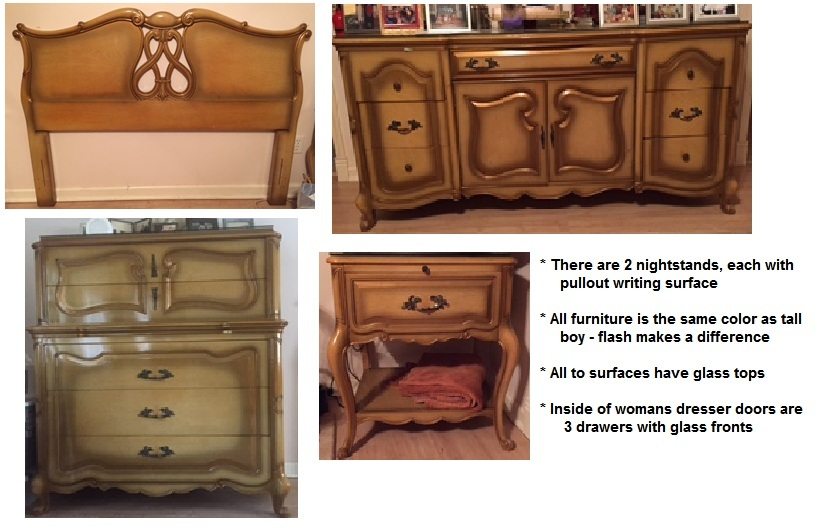 I Have A Bedroom Set From Approximately 1957 Purchased In New York City I My Antique