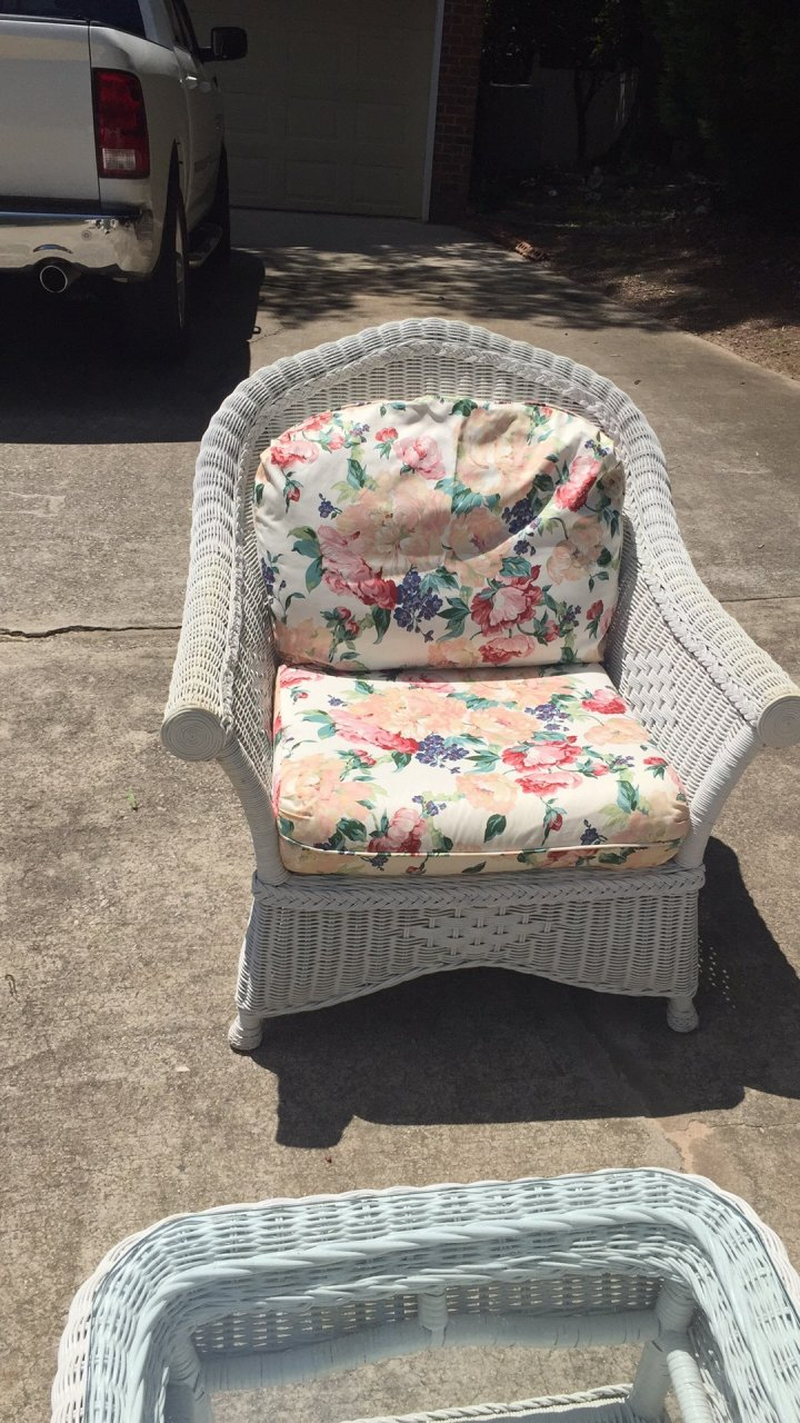 We Bought A Henry Link White Wicker Patio Furniture Set