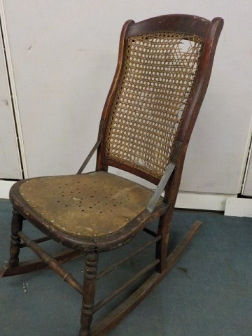 Any Info On This 1700s Child Rocking Chair It Has Laced
