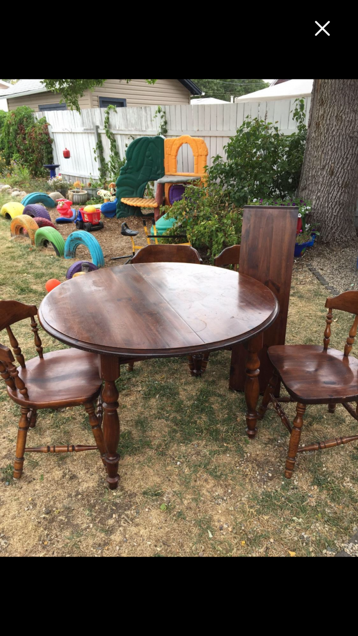 I Have A Young Hinkle Plymouth Pine Hutch With Table Leaf