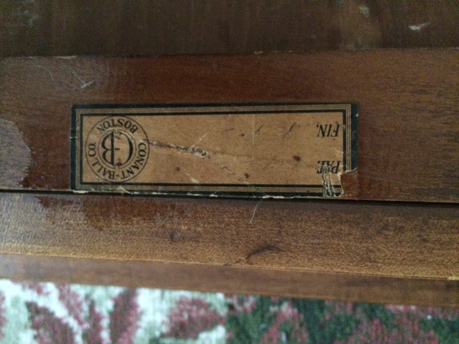 I Purchased This Table That Has The Conant Ball Label