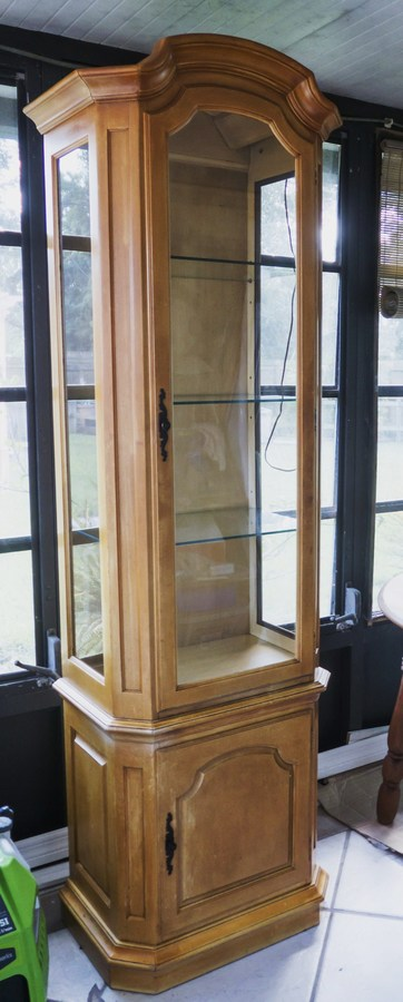 Lighted Curio Cabinet | My Antique Furniture Collection