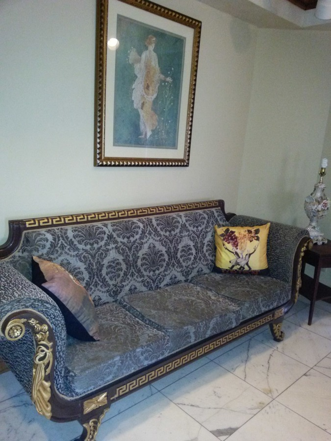 I Found This Sofa Settee And Two Old Lamp Inside Base