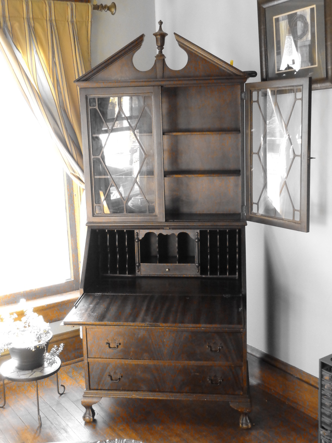 Saginaw Furniture Shops Secretary Hutch My Antique