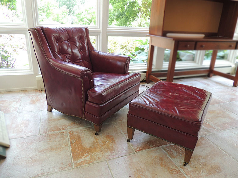 Beau This Is A Heritage Oxblood Red Leather Chair And Ottoman, Would You Know  Wh... Guest 4 Years Ago