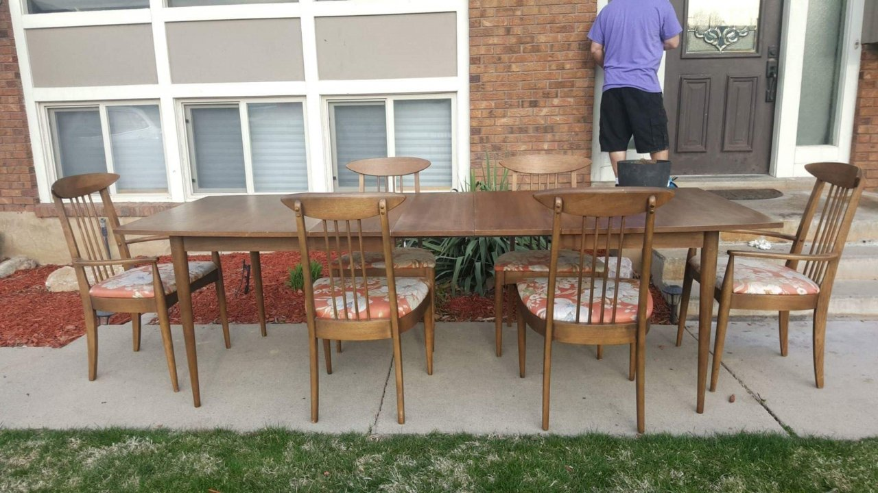 I Have A Mid Century Modern Dining Table With 6 Chairs From Lenoir Company.  I Am Wanting To Sell And I Am Wondering How Much To Ask. Also I Have A  Antique ...