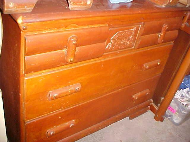 Vintage Dresser With Log Cabin Design My Antique