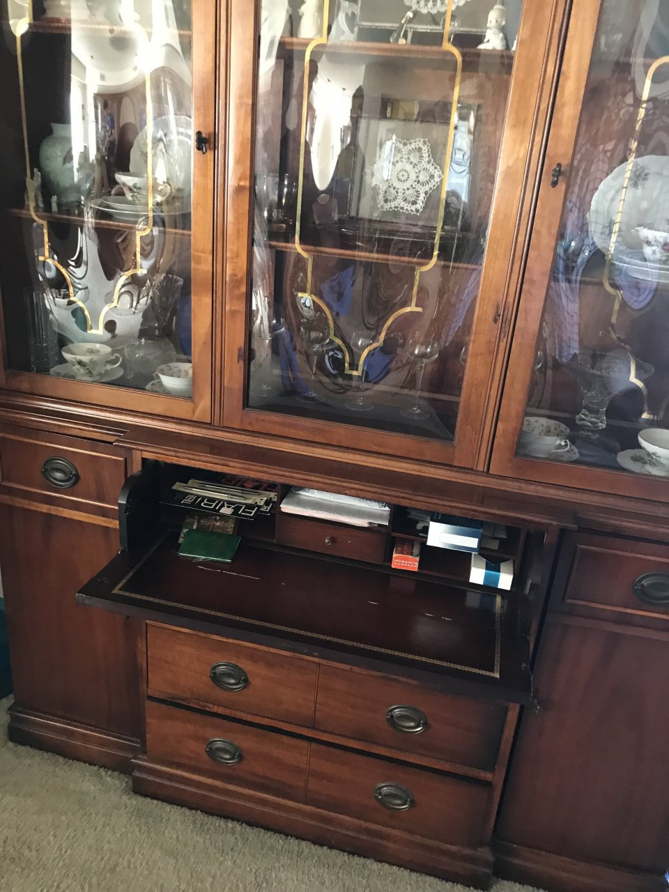 Unique Glass Saginaw China Cabinet My Antique Furniture