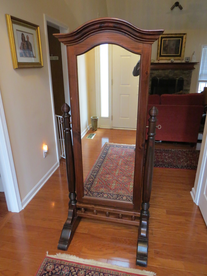 Ethan Allen Cheval Mirror Old Tavern Pine Collection