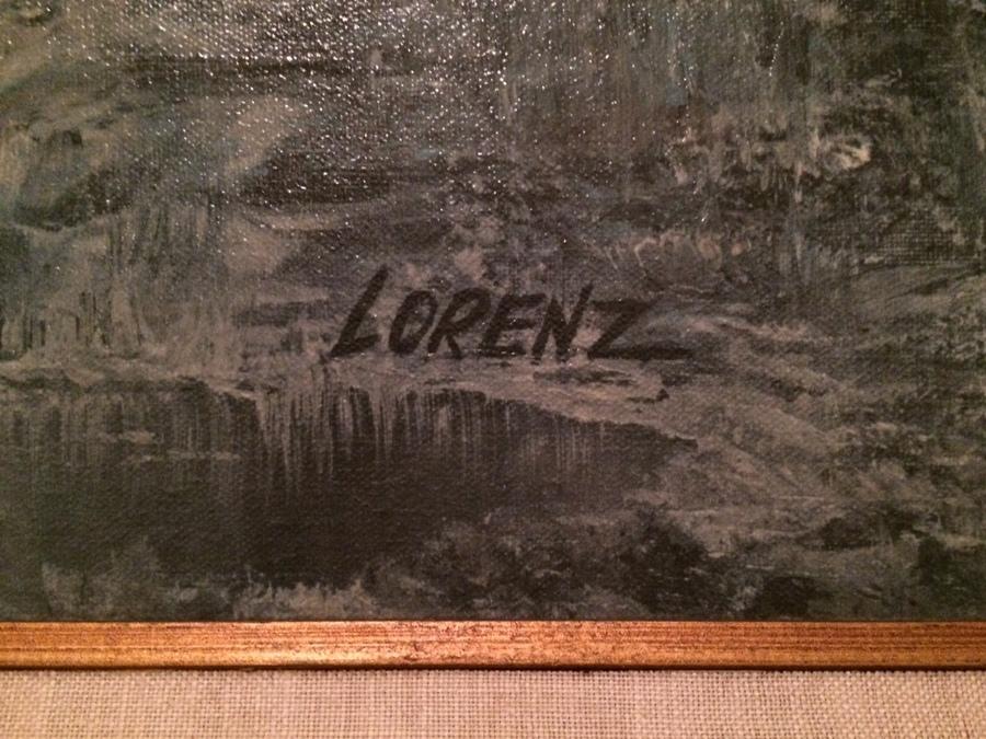 I Have An Original Richard Lorenz Painting On Canvas