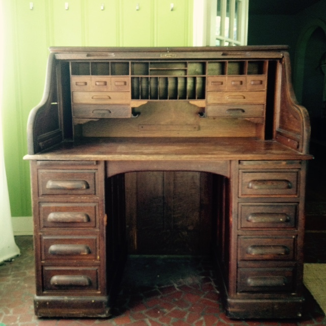 Wwii Military Issued Oak Roll Top Desk My Antique
