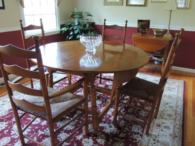 looking for value of a whitney heirloom solid maple dining room set which i