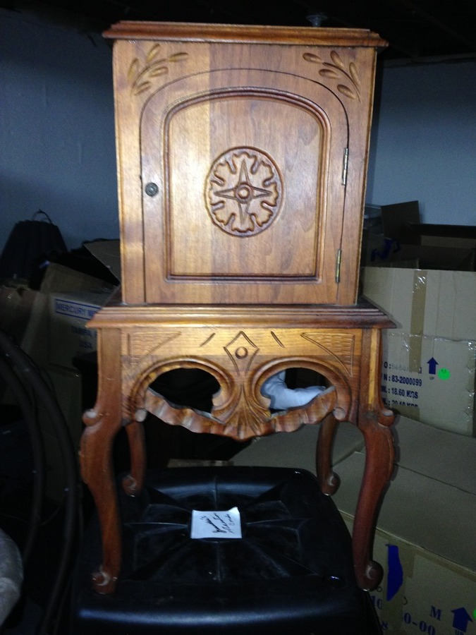 Small Antique Copper Lined Cigar Cabinet My Antique