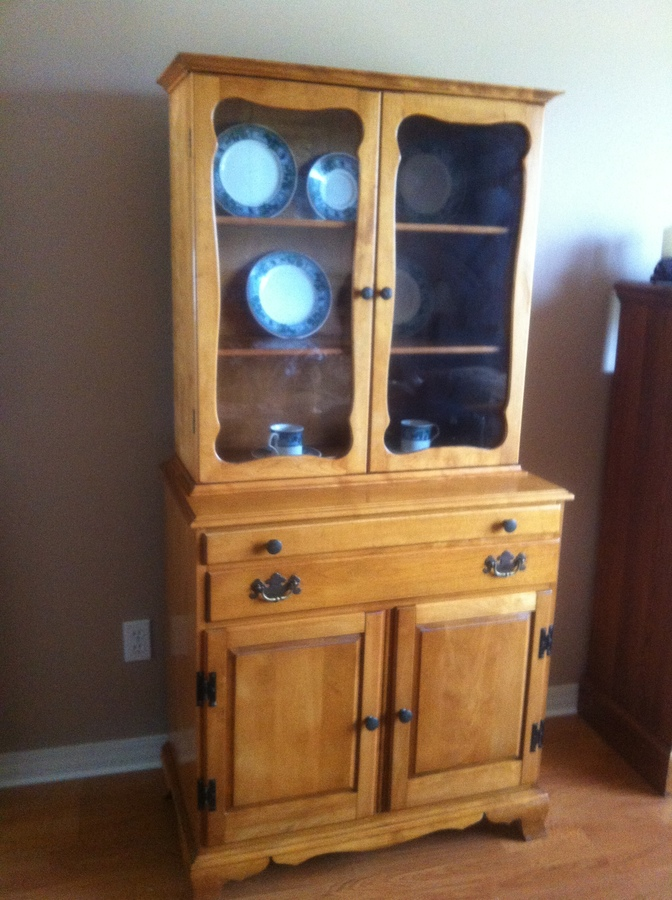 Antique China Hutch >> Ethan Allen China Cabinet | My Antique Furniture Collection