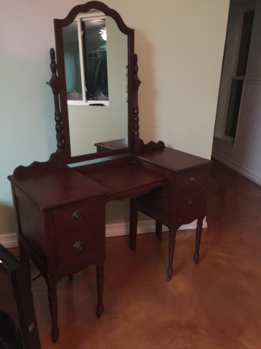 Antique Vanity And Matching 3 Drawer Chest Of Drawers My
