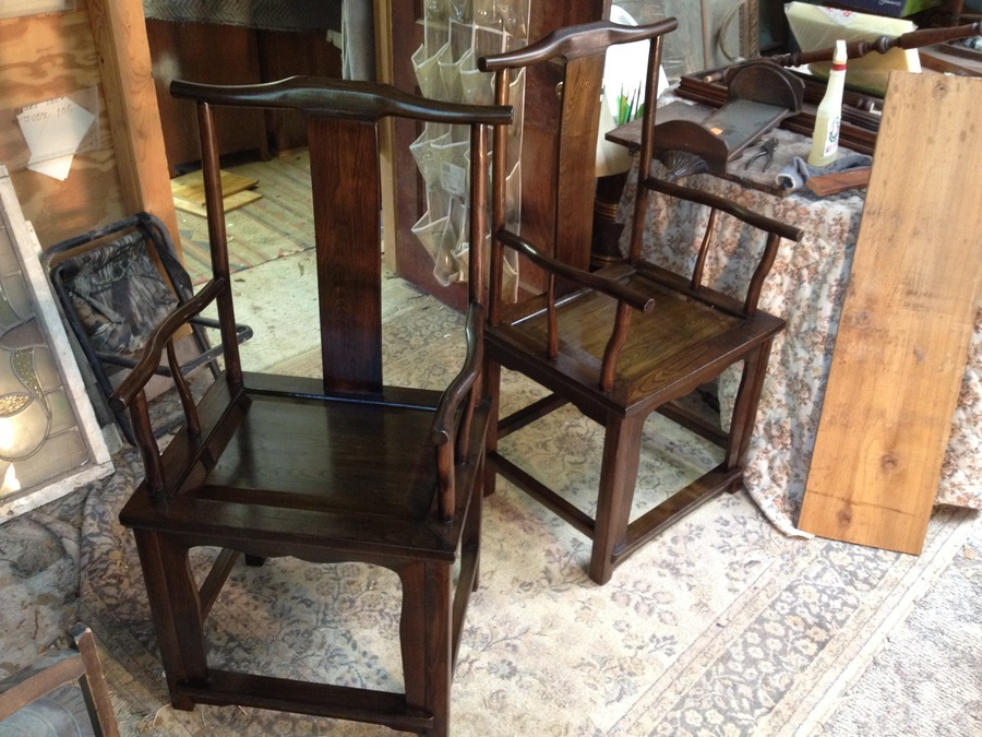 Iu0027ve Seen Several Chinese Yoke Back Chairs Like These, But The Splat Backs  Arenu0027t As Curved And There Arenu0027t Any Unique Carvings Or Designs In These.