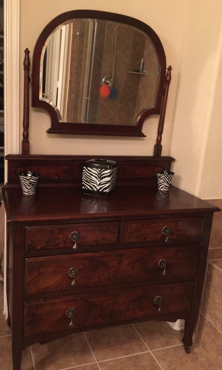 Tiger Oak Dresser W Mirror My Antique Furniture Collection