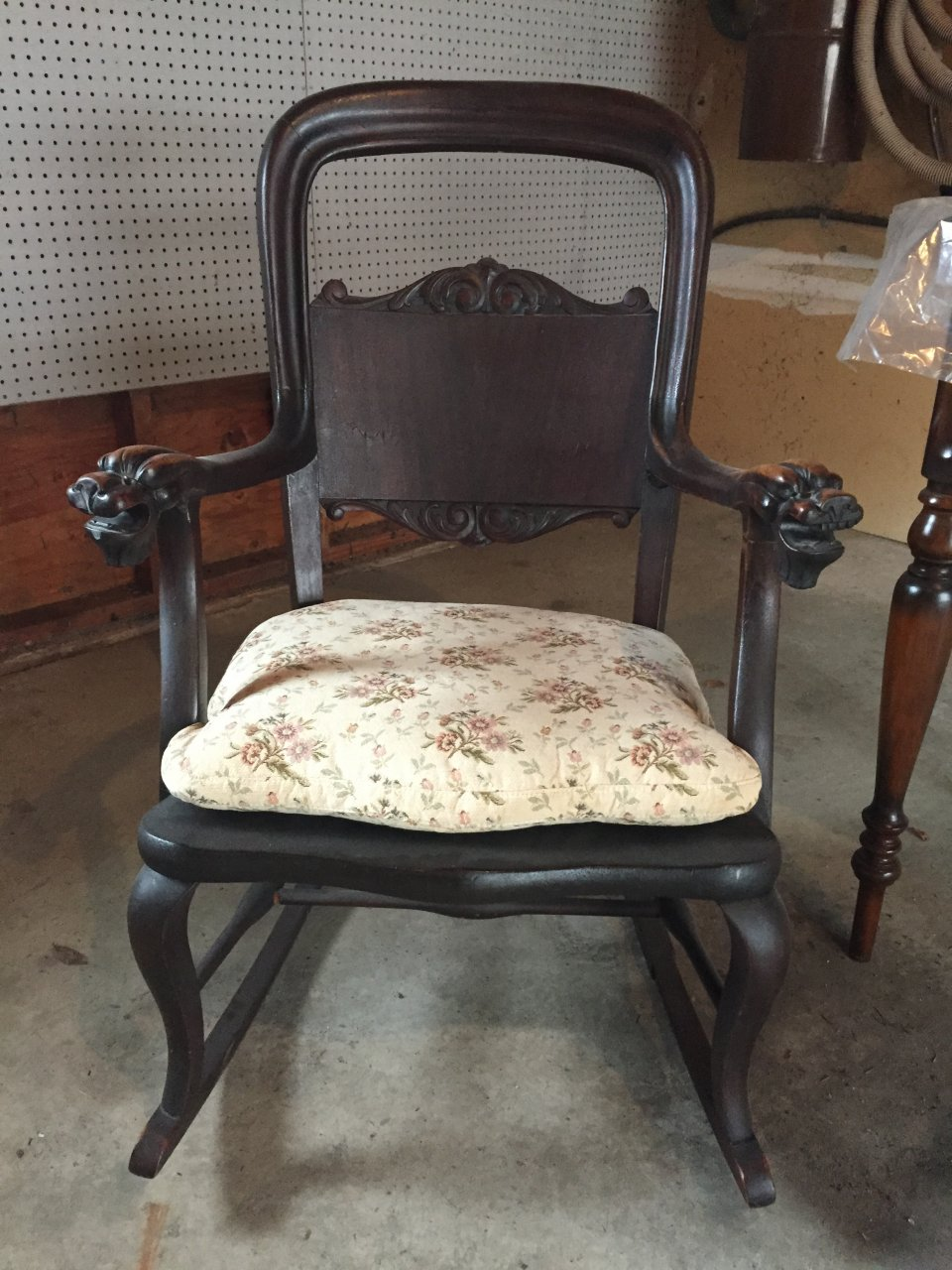 Rocking Chair With Lions Head Arms My Antique Furniture