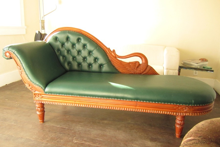 Does anyone know what a swan chaise lounge chair should be for Chaise lounge antique furniture
